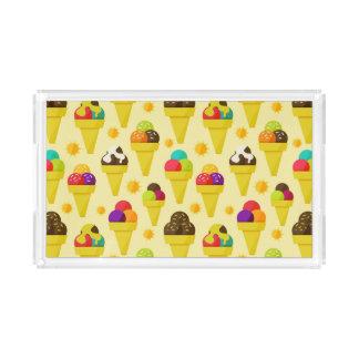 Colorful Cartoon Ice Cream Cones Acrylic Tray