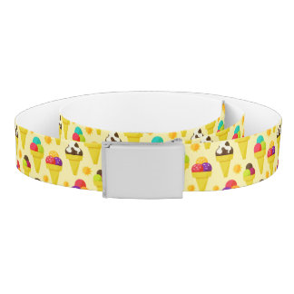 Colorful Cartoon Ice Cream Cones Belt