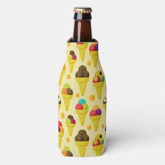 Colorful Cartoon Ice Cream Cones Bottle Cooler