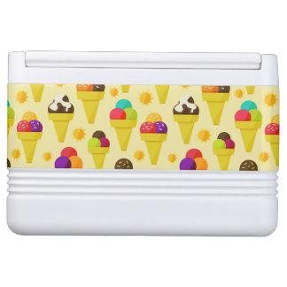 Colorful Cartoon Ice Cream Cones Igloo Cool Box