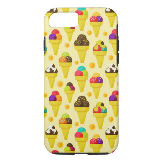 Colorful Cartoon Ice Cream Cones iPhone 8/7 Case