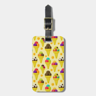 Colorful Cartoon Ice Cream Cones Luggage Tag