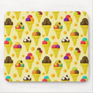 Colorful Cartoon Ice Cream Cones Mouse Pad