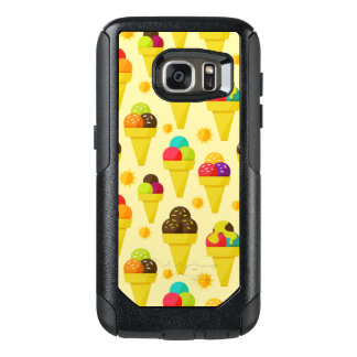 Colorful Cartoon Ice Cream Cones OtterBox Samsung Galaxy S7 Case