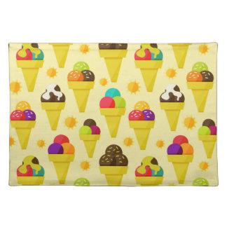 Colorful Cartoon Ice Cream Cones Placemat