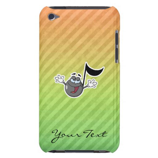 Colorful Cartoon Music Note Barely There iPod Case