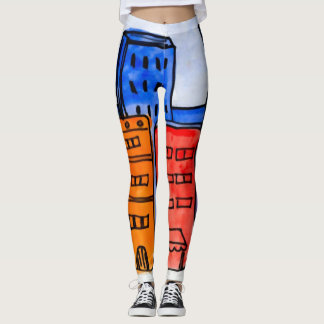 Colorful Cartoon New York City Graffiti Leggings