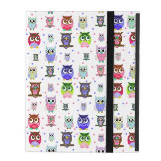 Colorful Cartoon Owls iPad Case