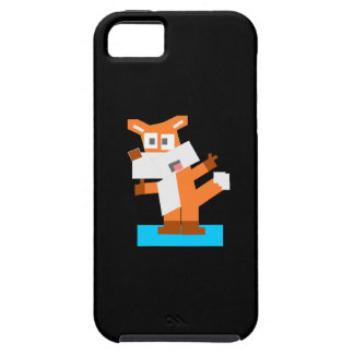 Colorful Cartoon Red Fox Made from Squares iPhone 5 Covers