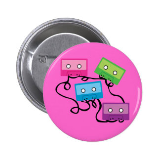 Colorful Cassette Tapes 6 Cm Round Badge