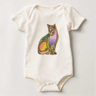Colorful cat baby bodysuit