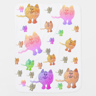"""COLORFUL CAT"" blanket Buggy Blankets"