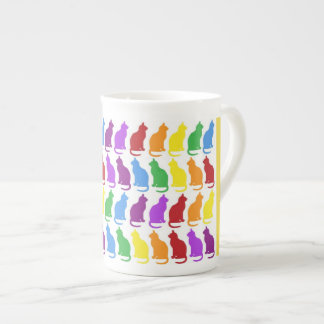 Colorful Cat Bone China Mug