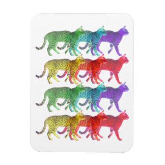 Colorful Cat Crowd Flexible Magnet