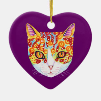 Colorful Cat Ornament