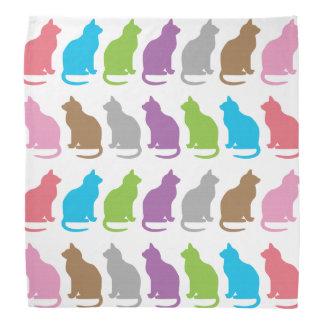 Colorful cat pattern bandanna