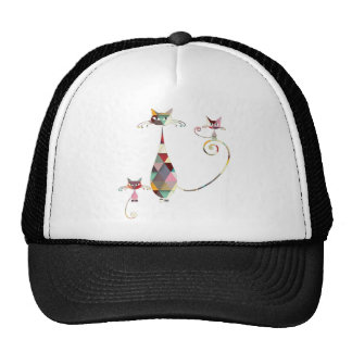 COLORFUL CAT TRUCKER HATS