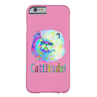 Colorful Cat with Catitude Barely There iPhone 6 Case