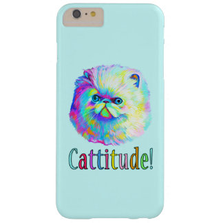 Colorful Cat with Catitude Barely There iPhone 6 Plus Case