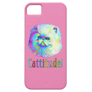 Colorful Cat with Catitude iPhone 5 Cases
