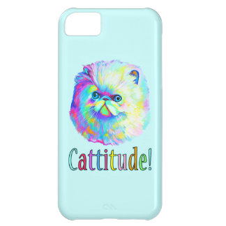 Colorful Cat with Catitude iPhone 5C Case