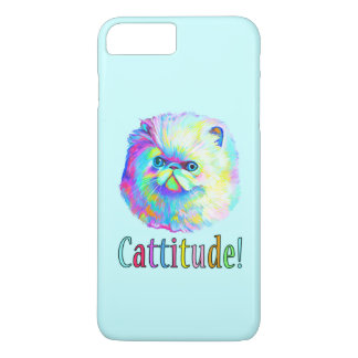 Colorful Cat with Catitude iPhone 7 Plus Case