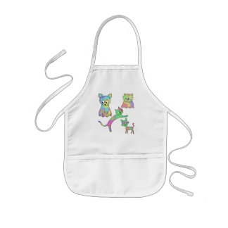 Colorful Cats. Kids Apron