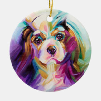 Colorful Cavalier Christmas Ornament | holidays