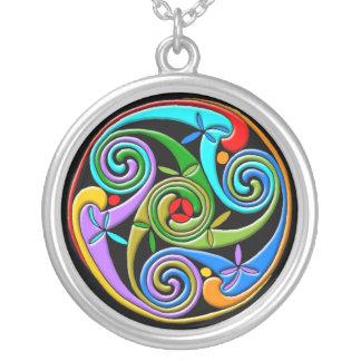 Colorful Celtic Art Necklace