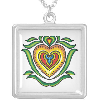 Colorful Celtic Heart Necklace