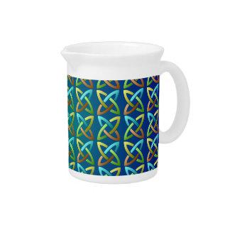 Colorful Celtic Knot Pattern Pitcher