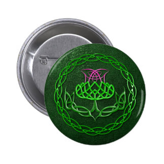 Colorful Celtic Knot Thistle 6 Cm Round Badge