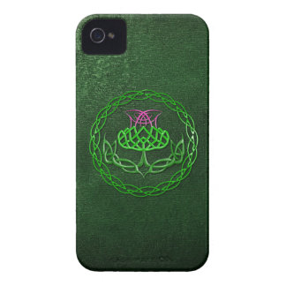 Colorful Celtic Knot Thistle iPhone 4 Case