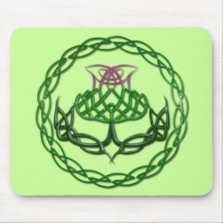 Colorful Celtic Knot Thistle Mouse Pad