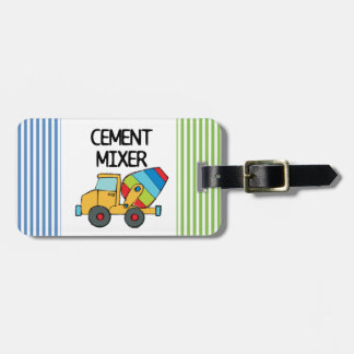 Colorful Cement Mixer Luggage Tag