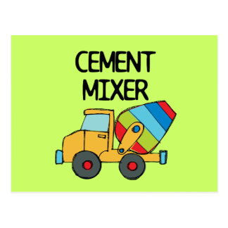 Colorful Cement Mixer Postcard