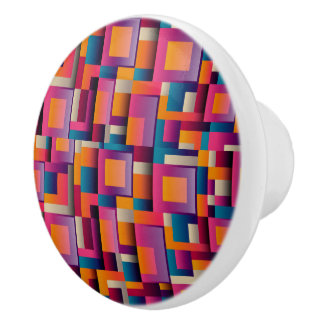 Colorful Ceramic Door Knob Pull