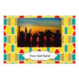 Colorful chains pattern photo print