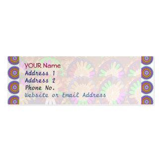 Colorful Chakra Border Grace Purple  Template Business Card Templates