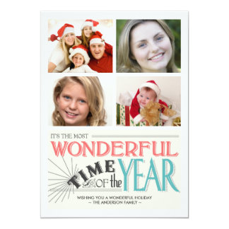 """Colorful Chalk Holiday Photo Flat Cards 5"""" X 7"""" Invitation Card"""