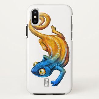 Colorful Chameleon iPhone X, Tough Phone Case