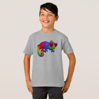 Colorful Chameleon with Sunglasses Day Shirt