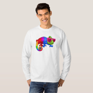 Colorful Chameleon with Sunglasses Shirt