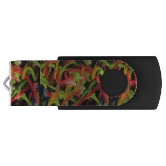 Colorful chaotic pattern swivel USB 3.0 flash drive