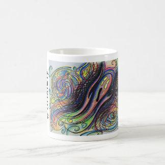 Colorful Character #anxiety Hand Drawn Coffee Mug