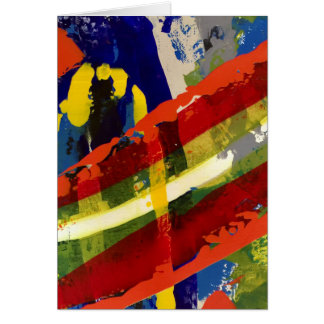 Colorful Charade Blank Note Card