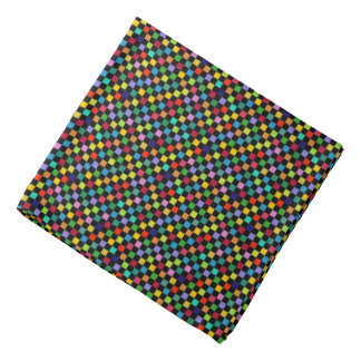colorful checkered pattern kerchief