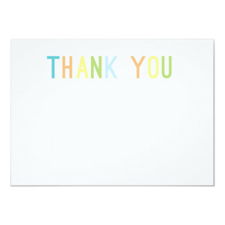 Colorful Cheer Thank You Flat Cards 11 Cm X 16 Cm Invitation Card