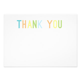 Colorful Cheer Thank You Flat Cards