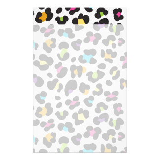 Colorful Cheetah Leopard Print Gifts for Teens Stationery